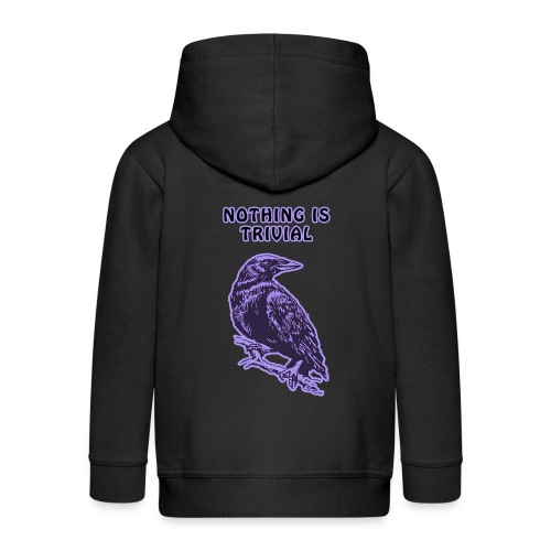 Lilac Crow - Nothing is Trivial - Kids' Premium Hooded Jacket