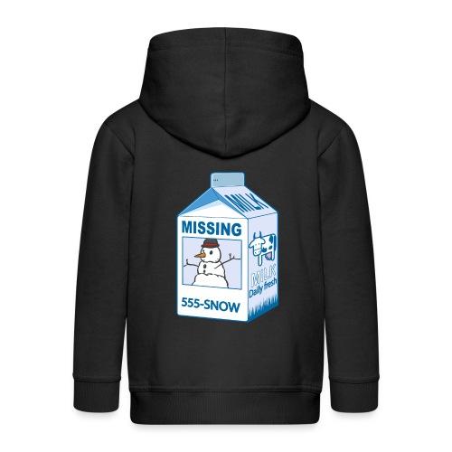 Missing : snowman - Kids' Premium Zip Hoodie