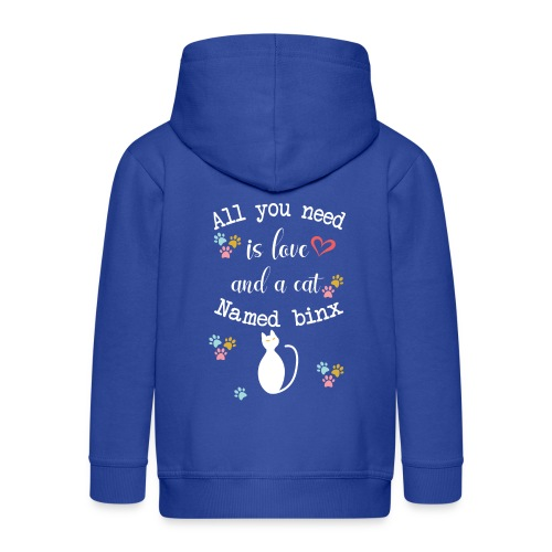 All you need is love and a cat named binx - Veste à capuche Premium Enfant
