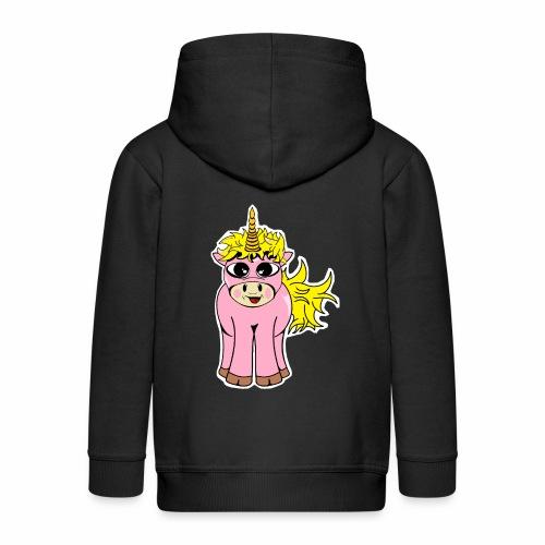 Unicorn female smile - Veste à capuche Premium Enfant