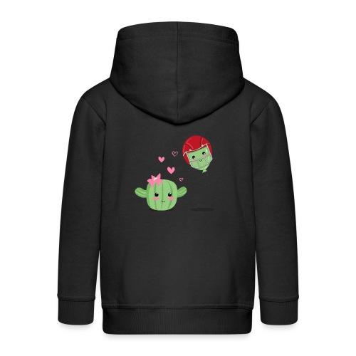 Cactus y Globo, amor - Chaqueta con capucha premium niño