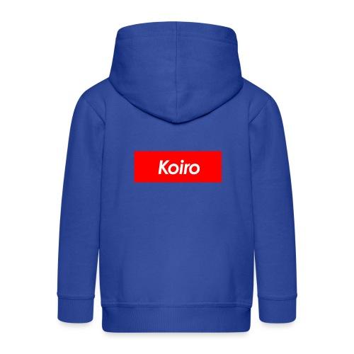 Koiro - Punainen - Lasten premium hupparitakki