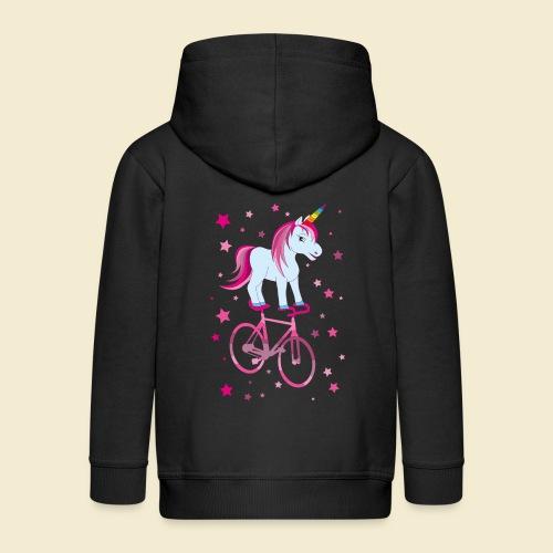 Kunstrad | Einhorn Pink - Kinder Premium Kapuzenjacke