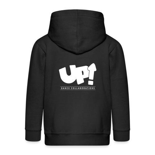 Up Dance White Logo - Kids' Premium Zip Hoodie