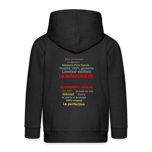 t shirt les meilleurs sont nés sweat shirt et mugs - Veste à capuche Premium Enfant