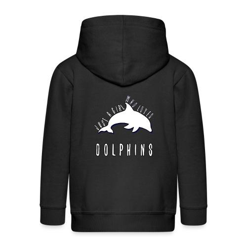 Bara en simpel tjej som älskar delfiner - Premium-Luvjacka barn
