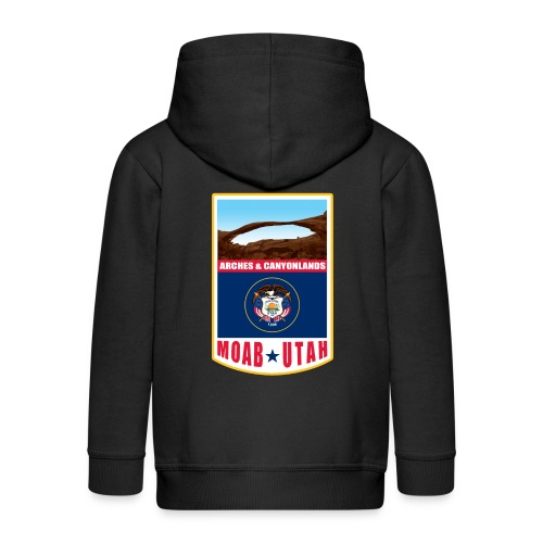 Utah - Moab, Arches & Canyonlands - Kids' Premium Zip Hoodie