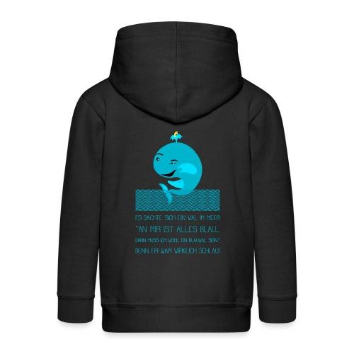 Blauwal - Kinder Premium Kapuzenjacke