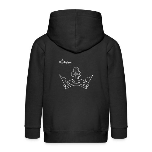 White Crown - Kids' Premium Zip Hoodie