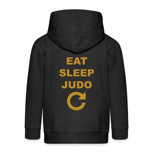 Eat sleep Judo repeat - Rozpinana bluza dziecięca z kapturem Premium