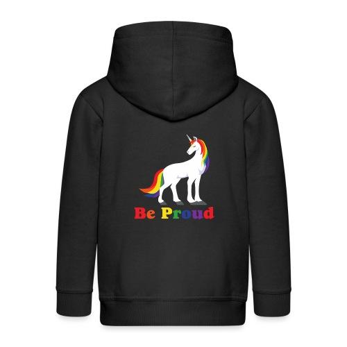 Einhorn | Regenbogen | Proud | LGBT - Kinder Premium Kapuzenjacke