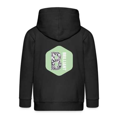 B brilliant green - Kinderen Premium jas met capuchon