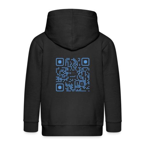 QR Maidsafe.net - Kids' Premium Zip Hoodie