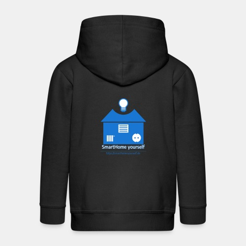 SmartHome yourself Logo Groß - Kinder Premium Kapuzenjacke