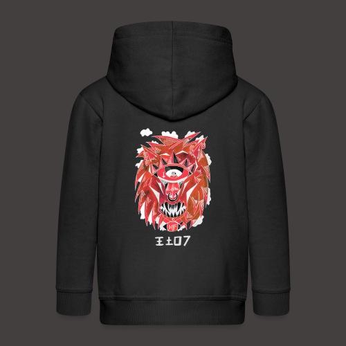 lion Négutif - Veste à capuche Premium Enfant