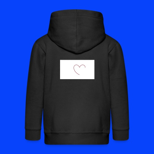 t-shirt bianca con cuore - Felpa con zip Premium per bambini