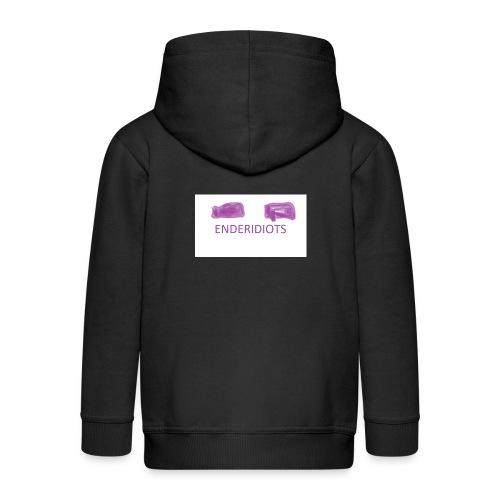 enderproductions enderidiots design - Kids' Premium Zip Hoodie