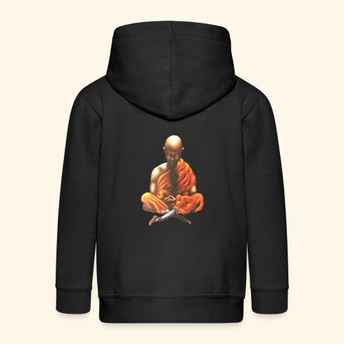Yoga Meditation Spiritueller Buddhistischer Mönch - Kinder Premium Kapuzenjacke