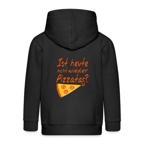 Pizzatag Pizza Essen Spruch - Kinder Premium Kapuzenjacke