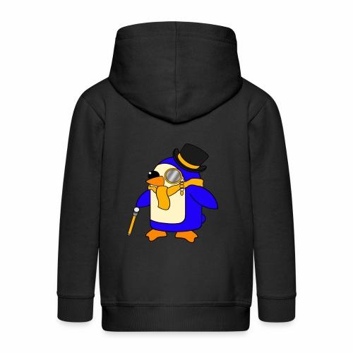 Cute Posh Sunny Yellow Penguin - Kids' Premium Zip Hoodie