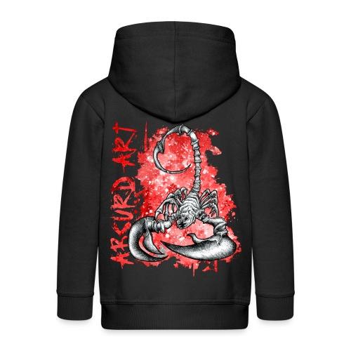 Knochentierchen Skorpion - Kinder Premium Kapuzenjacke