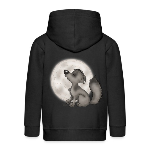 Wölfchen - Kinder Premium Kapuzenjacke