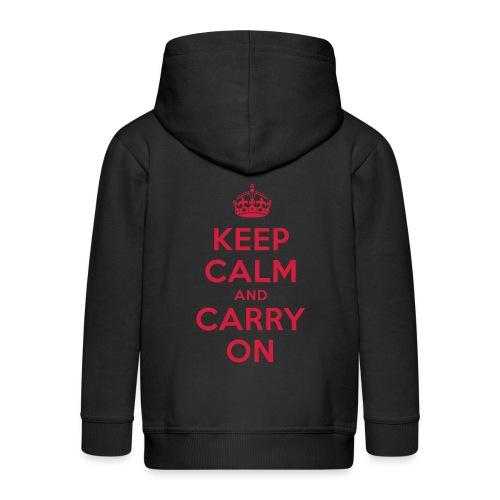 keep calm and carry on - Kinder Premium Kapuzenjacke