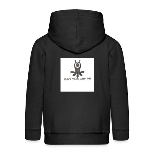 Dont mess whith me logo - Kids' Premium Zip Hoodie
