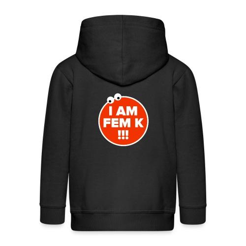 I AM FEM K - Kids' Premium Zip Hoodie