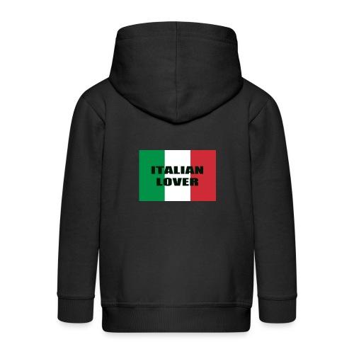 ITALIAN LOVER - Felpa con zip Premium per bambini