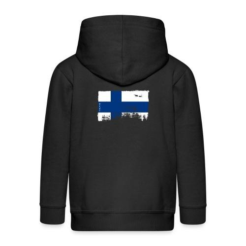 Suomen lippu, Finnish flag T-shirts 151 Products - Lasten premium hupparitakki