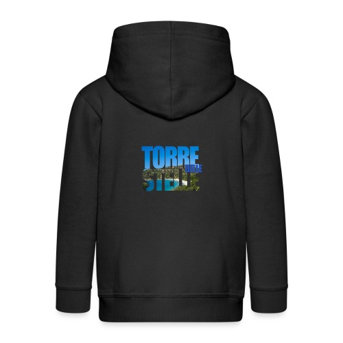 TorreTshirt - Felpa con zip Premium per bambini