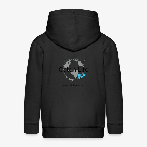 Catch Life Logo - Kids' Premium Zip Hoodie