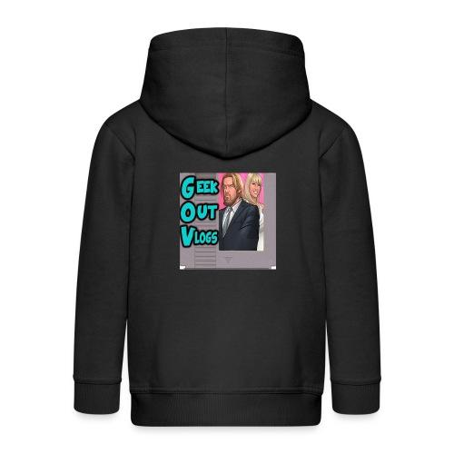 GeekOut Vlogs NES logo - Kids' Premium Zip Hoodie