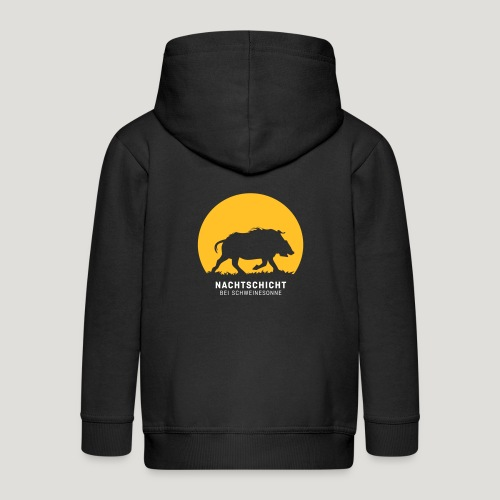 Nachtschicht bei Schweinesonne! Jäger Shirt Jaeger - Kinder Premium Kapuzenjacke