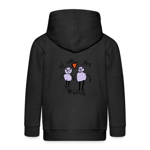 Me and Mom #Love - Kids' Premium Zip Hoodie