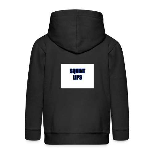 Squint Lips Merch - Kids' Premium Zip Hoodie