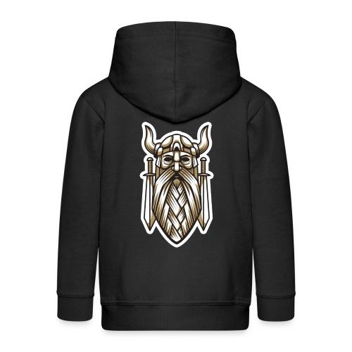 Odin Wikinger Wikingerschwert Häuptling von Asgard - Kinder Premium Kapuzenjacke