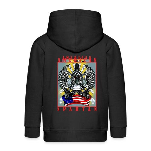 American Spartan - Kids' Premium Zip Hoodie