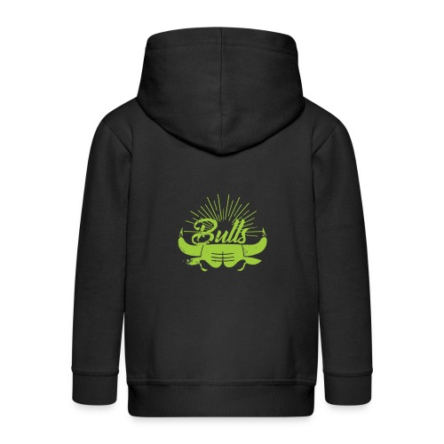 Toros verdes, Bulls BasketBall deporte - Chaqueta con capucha premium niño