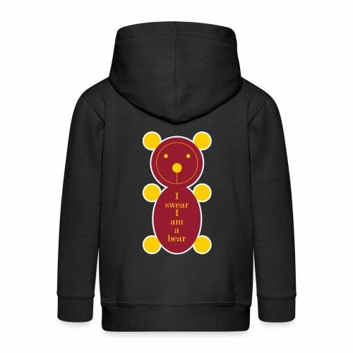 I swear I am a bear 001 - Kinderen Premium jas met capuchon