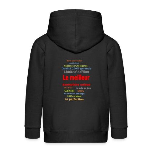 t shirt le meilleur sweat shirt coque et mugs - Veste à capuche Premium Enfant
