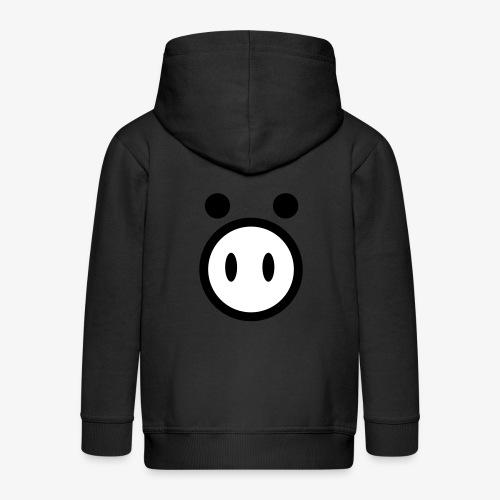 pig - Rozpinana bluza dziecięca z kapturem Premium