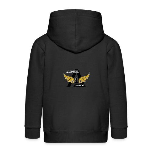 ANGEL INSIDE2-01 - Felpa con zip Premium per bambini