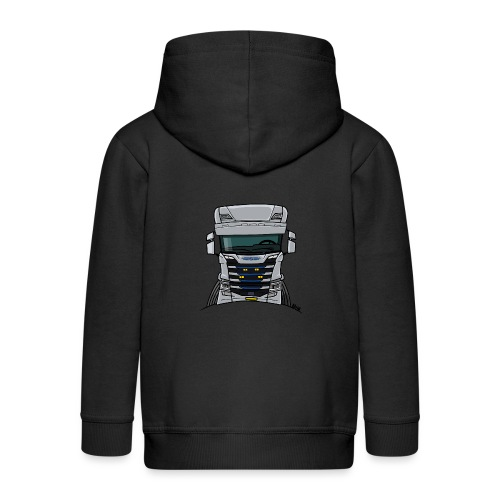 0814 S truck grill wit - Kinderen Premium jas met capuchon
