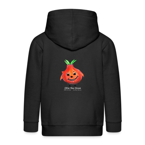 mens black T-shirt Ollie the Onion - Kids' Premium Hooded Jacket