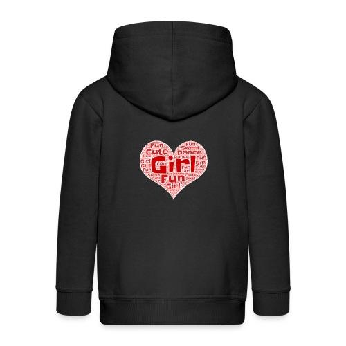 Girl heart - Kinderen Premium jas met capuchon