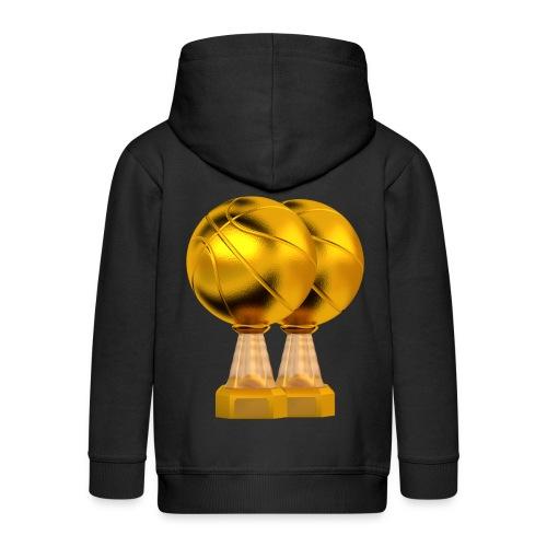 Basketball Golden Trophy - Veste à capuche Premium Enfant