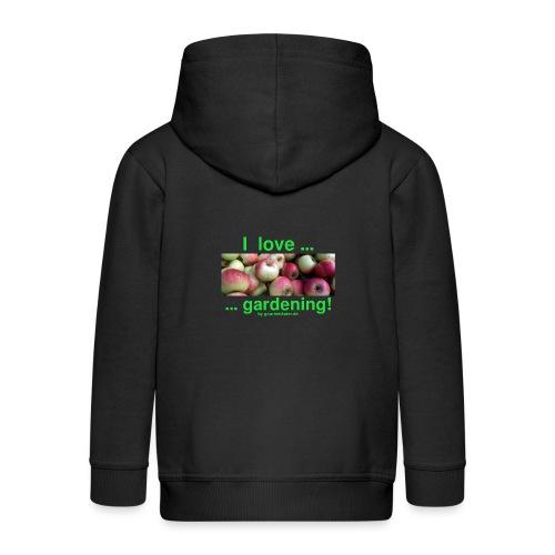 Äpfel - I love gardening! - Kinder Premium Kapuzenjacke