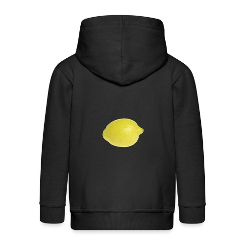 Zitrone - Kinder Premium Kapuzenjacke